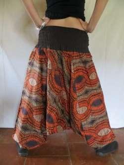 Sarouel ethnique vetements hippie baba cool africain roopa orange ebay - Vetements hippie baba cool ...