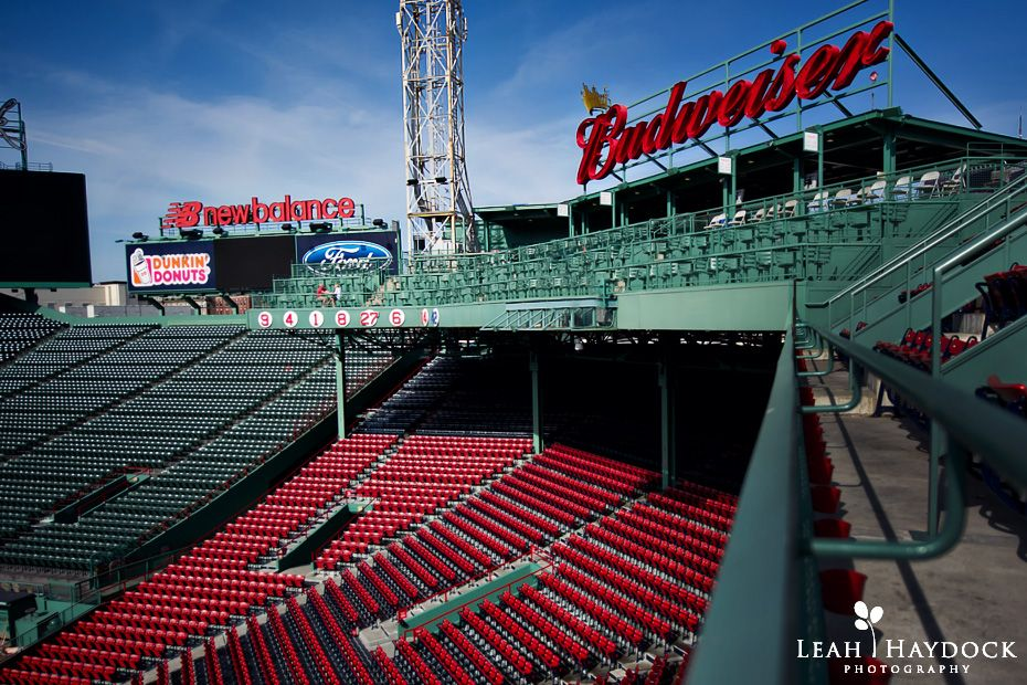 fenway park engagement pictures