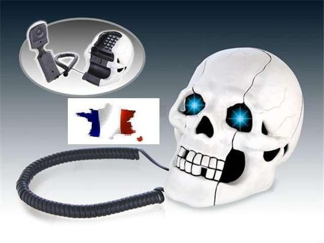 Telefono fisso a forma di teschio scheletro bianco cranio for Camera dei deputati telefono