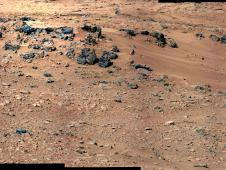 This patch of windblown sand and dust<br /> downhill from a cluster of dark rocks<br /> is the &quot;Rocknest&quot; site, which has been<br /> selected as the likely location for<br /> first use of the scoop on the arm of<br /> NASA&#39;s Mars rover Curiosity.<br /> Image credit: NASA/JPL-Caltech/MSSS&nbsp;&nbsp;<br /> <a href='http://www.nasa.gov/mission_pages/msl/multimedia/pia16204.html' class='bbc_url' title='External link' rel='nofollow external'>� Full image and caption</a>