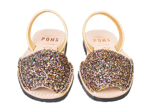 Avarcas Pons glitter sandals on Cool Mom Picks