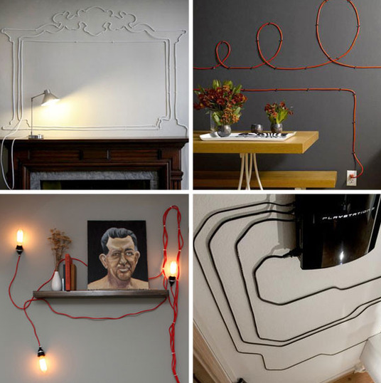 Embellish your cords on Apartment Therapy