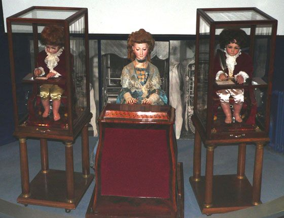 "The three Jaquet-Droz automata: ""The Musician"", ""The Draughtsman"" and ""The Writer"""