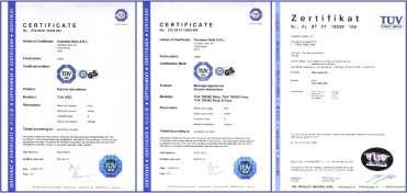 Certyfikaty elektrostymulatorów Vupiesse