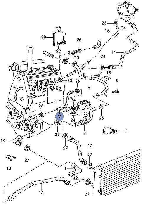 audi 80 vw caddy seat inca radiator flange to coolant pump