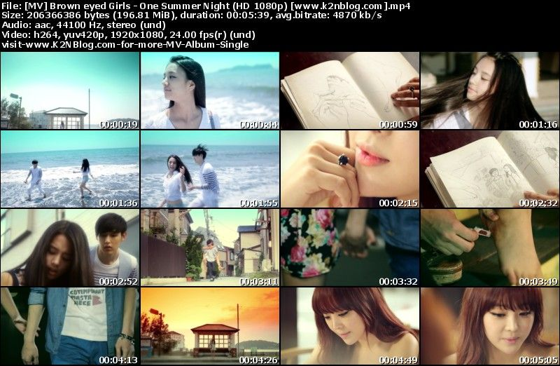 [MV] Brown eyed Girls   One Summer Night (HD 1080p Youtube)