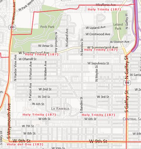Holy Trinity Area, San Pedro, CA  90731 and 90732