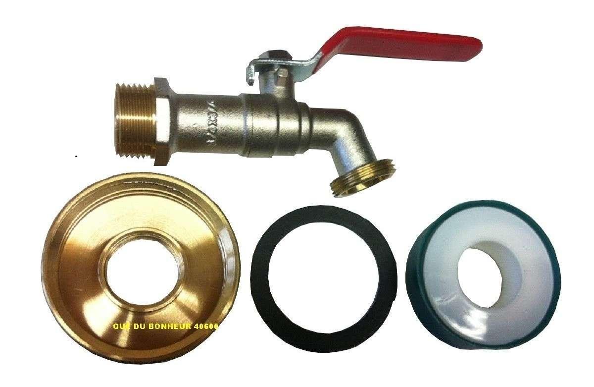 kit robinet 3 4 20x27 adaptateur laiton t flon pour cuve ibc 1000l s60 6 ebay. Black Bedroom Furniture Sets. Home Design Ideas