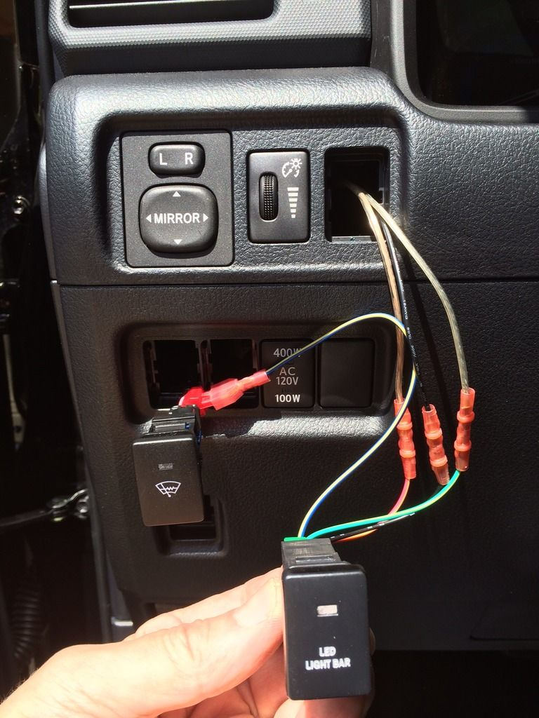 Led Light Bar Install On A 2014 T4r Toyota 4runner Forum Largest Wiring Diagram For 52 Switch