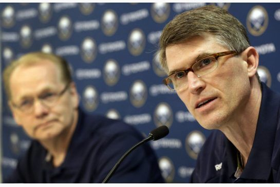 Buffalo Sabres coach Ron Rolston speaks during an NHL hockey news conference in Buffalo, N.Y., Tuesday, May 7, 2013. Rolston becomes the 16th coach in the history of the franchise.