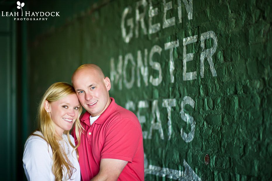 fenway park engagement photo