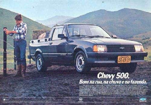 Chevy 500. Bom na rua, na chuva e na fazenda.