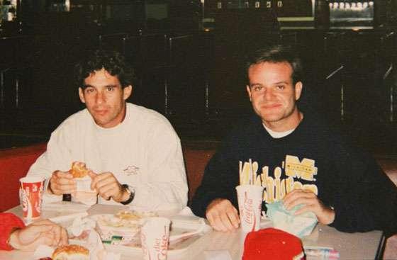Ayrton Senna Rubens Barrichello Fast Food