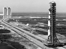 Image above: The mobile launcher platform<br /> and Saturn V rocket roll to Launch Pad<br /> 39B in March 1969 to prepare for the<br /> Apollo 10 mission.<br /> Photo credit: NASA&nbsp;&nbsp;<br /> <a href='http://www.nasa.gov/images/content/687001main_4mlp.jpg' class='bbc_url' title='External link' rel='nofollow external'>� View Larger Image</a>