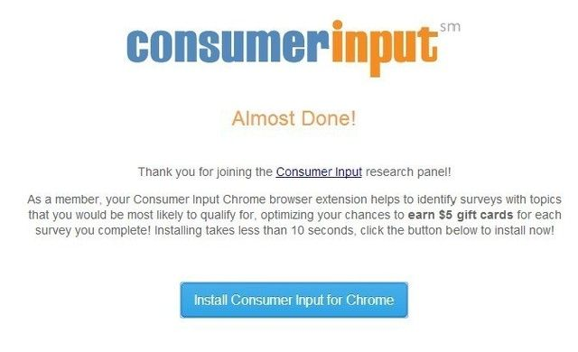 Retirer ConsumerInput