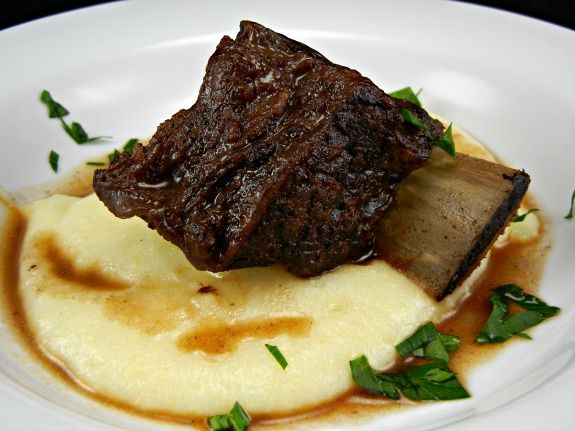 Braised Beef Short Ribs cooked in Rockcrok. Win a Pampered Chef Giveaway on The Tasty Fork. #shop