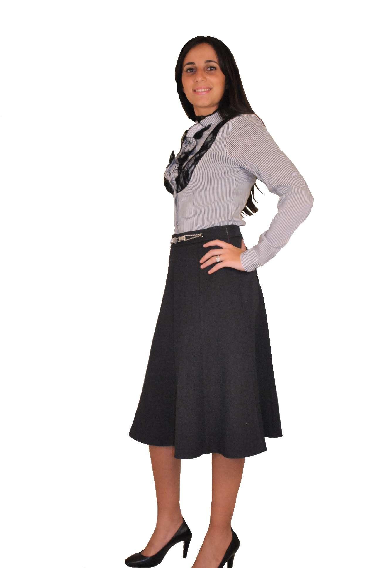 La Jupe mi-longue habillée