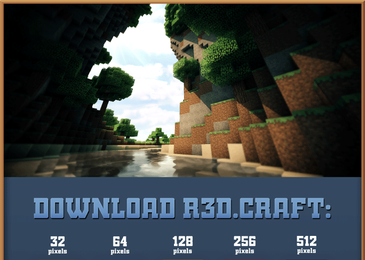 downloadpanel01 R3D.CRAFT Resource Pack 1.8/1.7.10/1.7.2/1.6.4