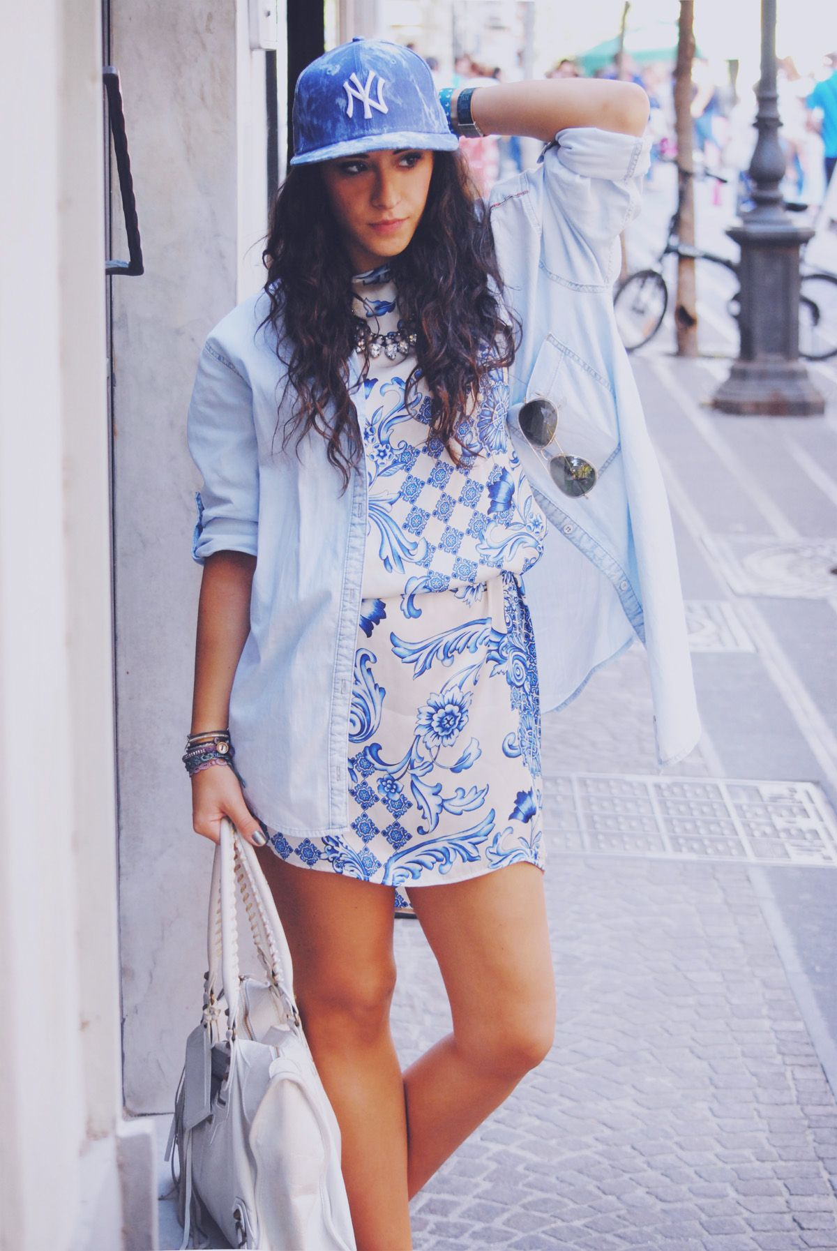 blue outfit blogger rossella