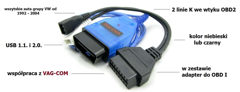 interfejs vag kkl obd2 kabel usb adapter obd1. Black Bedroom Furniture Sets. Home Design Ideas