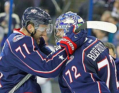 Goalie Sergei Bobrovsky is a big part of Columbus