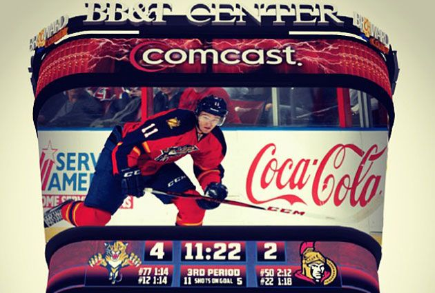 A preview of what the new scoreboard in Florida will look like. (FlaPanthers Instagram)