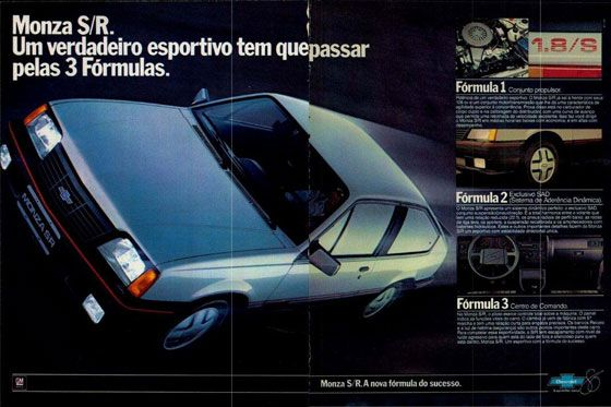 Chevrolet Monza S/R. Um verdadeiro esportivo tem que passar pelas 3 Fórmulas. Monza S/R. A nova fórmula do sucesso.