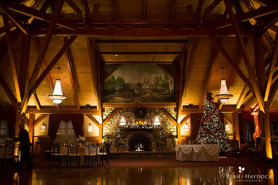 We Headed Back To Tewksbury Country Club For The Wedding Reception Large Wood Lined Ballroom Looked Amazing With All Of Holiday Decorations And