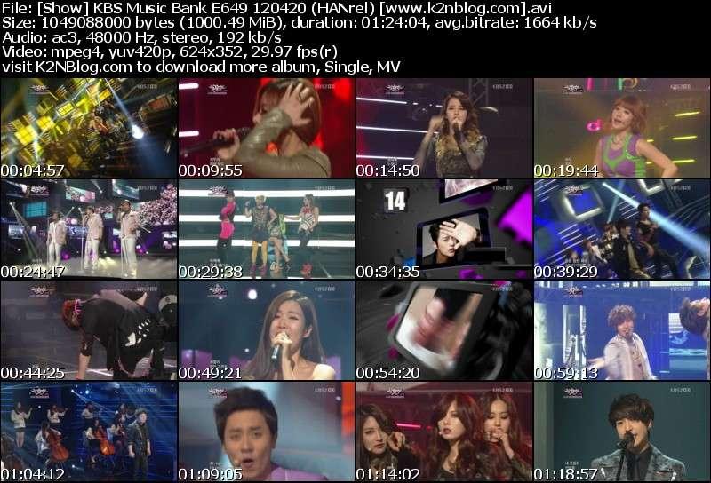 [Show] KBS Music Bank E649 120420
