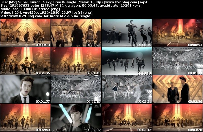 [MV] Super Junior   Sexy, Free & Single (Melon HD 1080p)