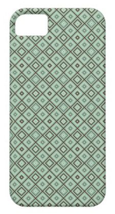 mint tile pattern iphone case