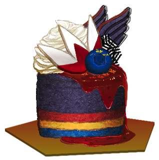 勇士鷹花釀藍莓蛋糕(14/4/2013)