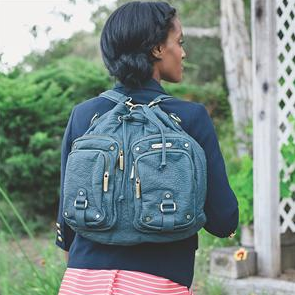 Timi and Leslie Hart diaper bag + backpack convertible