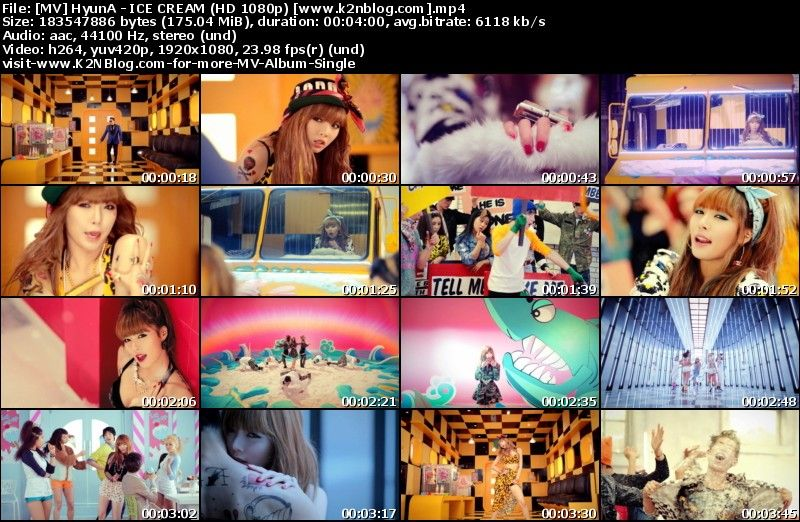 [MV] HyunA   ICE CREAM (HD 1080p Youtube)