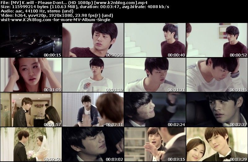 [MV] K.will - Please Don't... (HD 1080p Youtube)