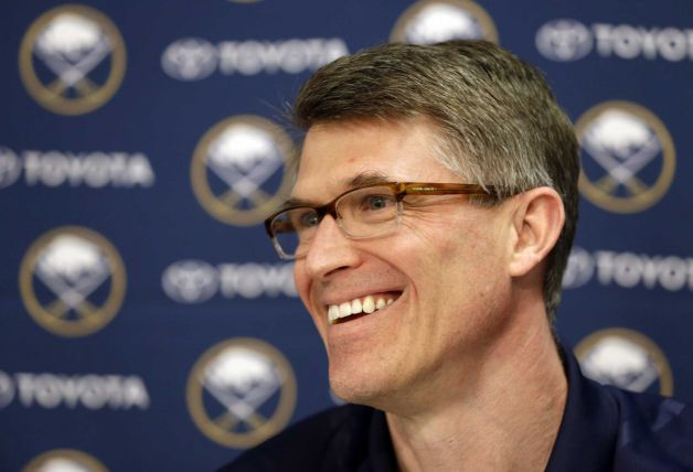 Buffalo Sabres coach Ron Rolston speaks during an NHL hockey news conference in Buffalo, N.Y., Tuesday, May 7, 2013. Rolston becomes the 16th coach in the history of the franchise. Photo: David Duprey