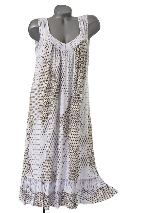 0037 neu sommer strand kleid tunika tr gerkleid print wei. Black Bedroom Furniture Sets. Home Design Ideas