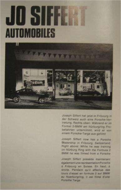 Jo Siffert's Porsche Dealership in Fribourg, Switzerland