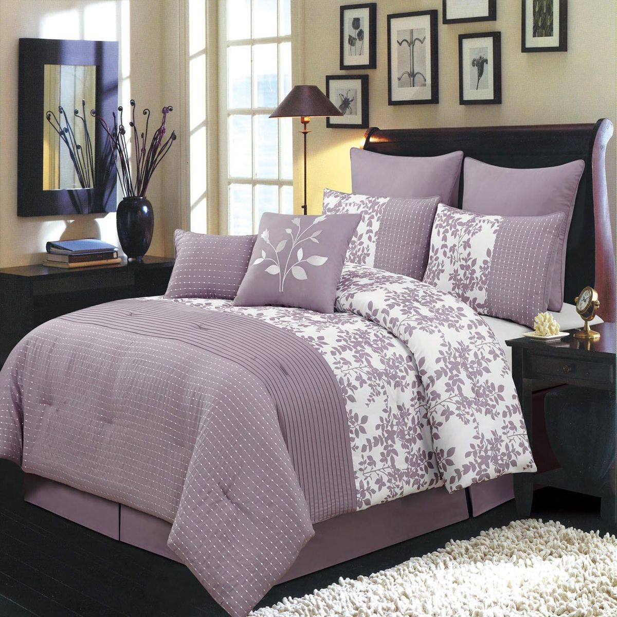 Scotts-sales Bliss Purple Luxury 12-Piece Bed in a bag Comforter Set