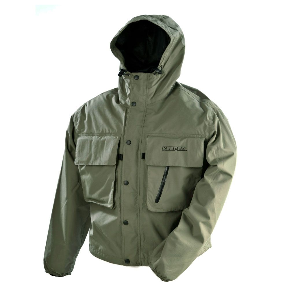 Vision keeper wading fishing jacket waterproof windproof for Waterproof fishing jacket