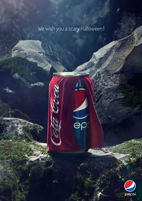 We wish you a scary Halloween! Pepsi. (Coca-Cola Spoof)