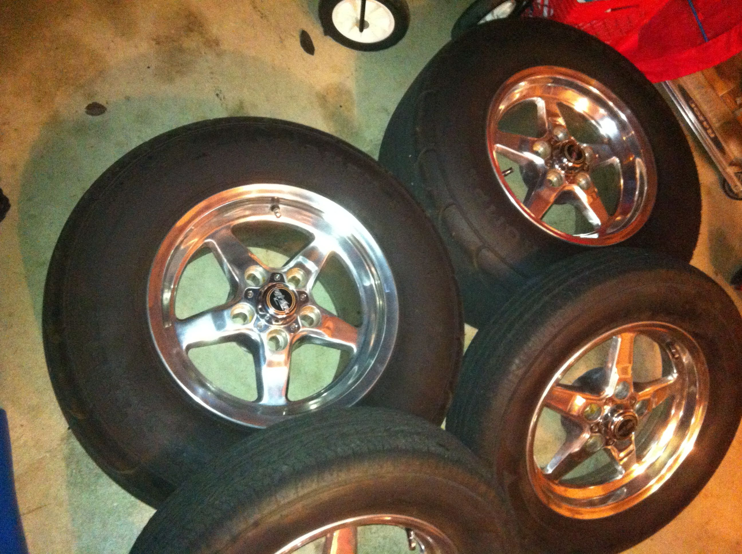 Mustang Race Star Wheels Mickey Thompson Street Drag