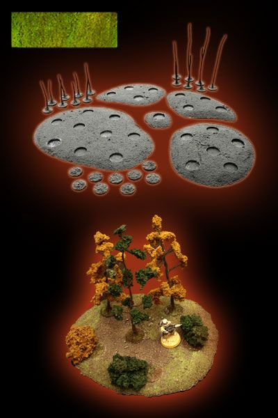 WARHAMMER 40.000, FANTASY, FLAMES OF WAR, WARGAME SCENERY