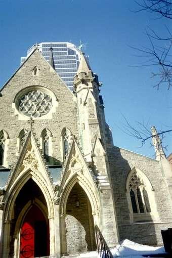 an olden church along rue sainte-catherine