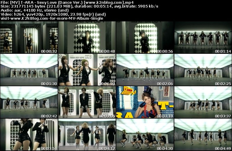 [MV] T-ARA - Sexy Love (Dance Ver.) [HD 1080p]