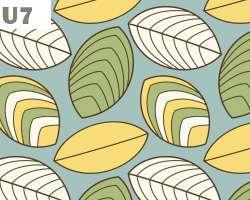 Stripe Leaves Pattern