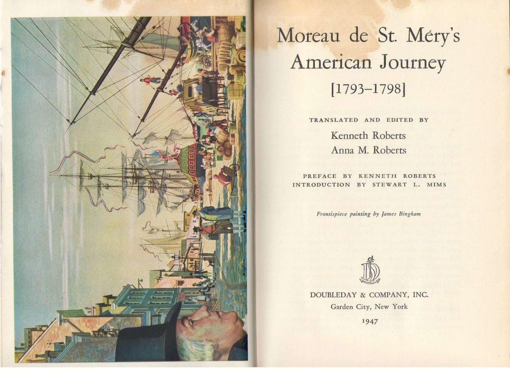 Moreau de St. Méry's American Journey, 1793-1798