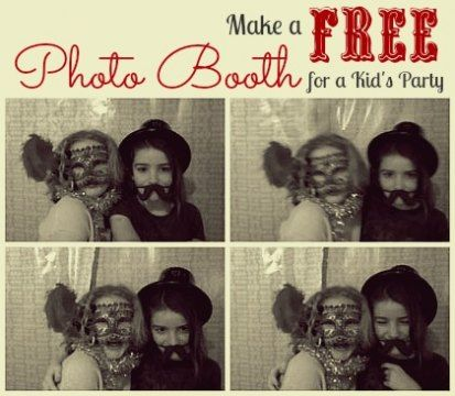 make a free photo booth for a kid's party