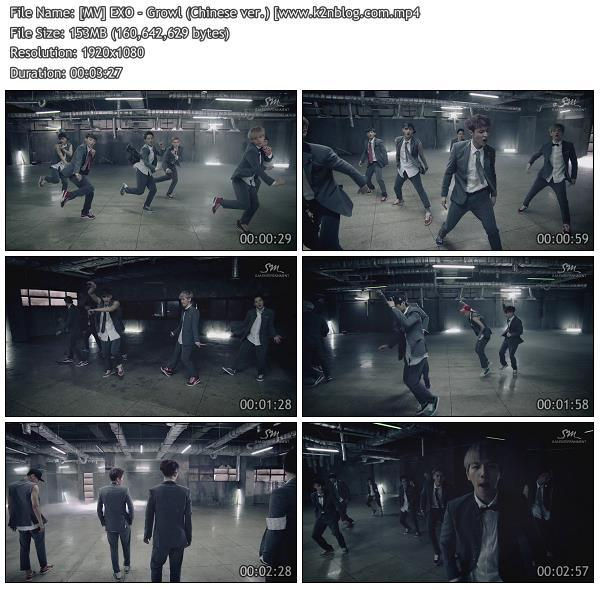 [MV] EXO - Growl (Chinese ver.) [HD 1080p Youtube]