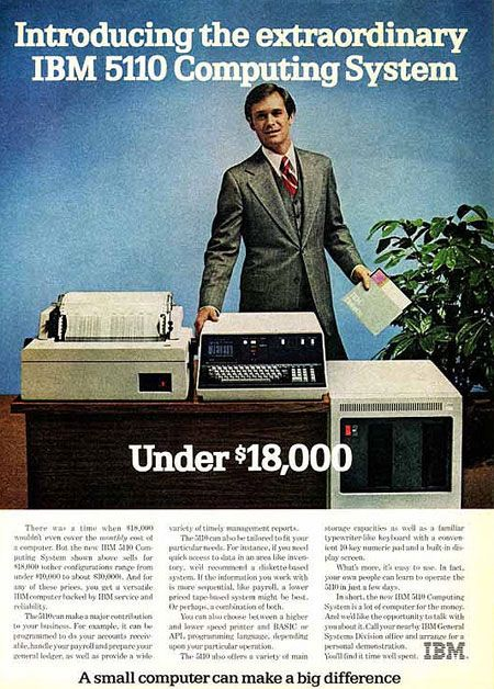 Introducing the extraordinary IBM 5110 Computing System. Under $18,000. A small computer can make a big difference.